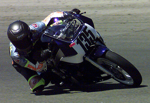 Jodie on the championship winning FZR400, pristinely tuned by RPM Cycles in Ventura.